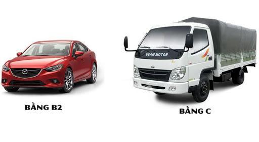Nên chọn học bằng lái xe ô tô hạng B2 hay hạng C?